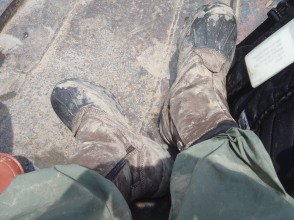 Muddy boots in Ecuador
