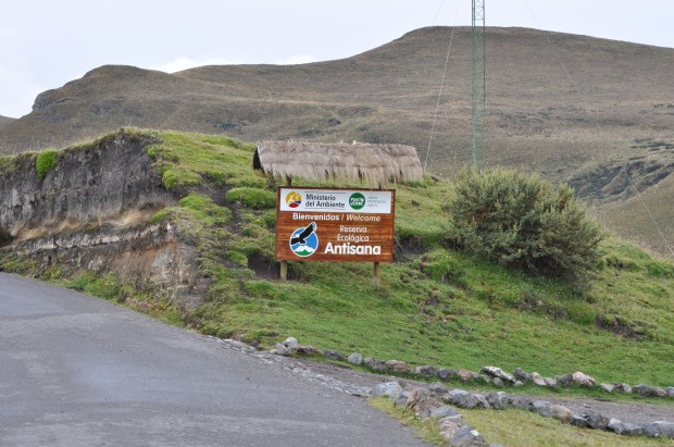 Entrance to Antisana Volcano Ecological Reserve