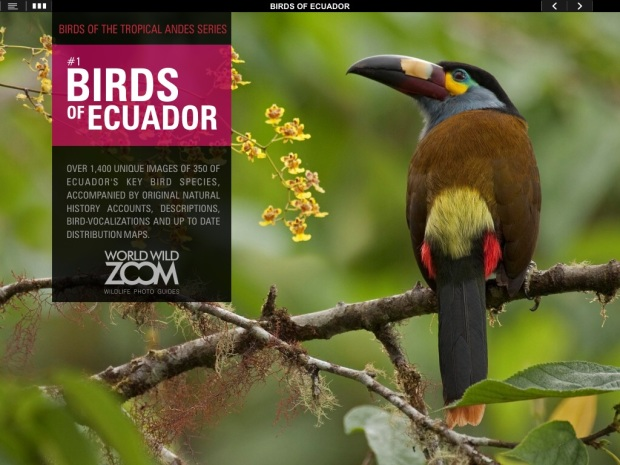 Birds of Ecuador iPad app