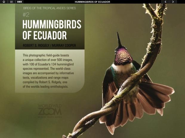 Hummingbirds of Ecuador iPad app