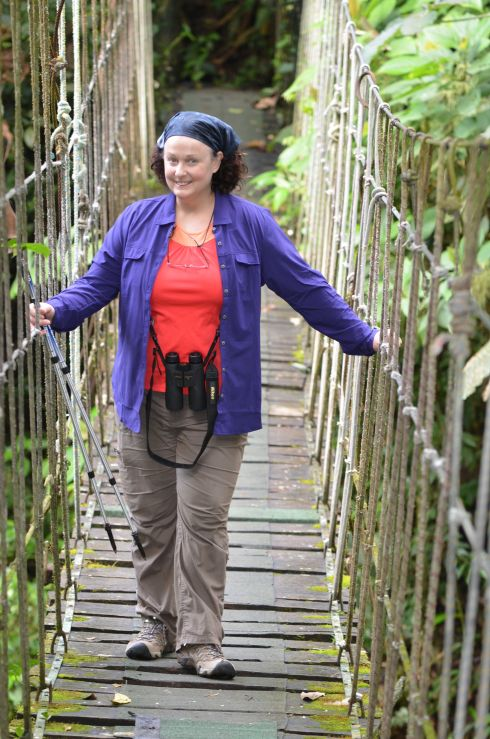 Walk across a treacherous bridge (well not really treacherous, but wobbly nonetheless)