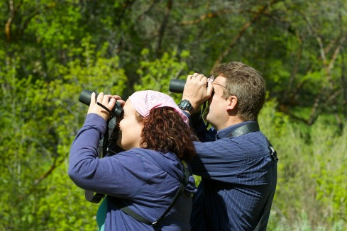 Steve and Lisa go birding