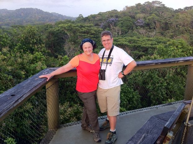 Atop tower at Panama Rainforest Discovery Center Pipeline Road