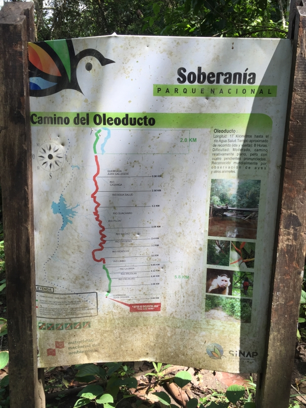 Soberania National Park Pipeline Road trail map