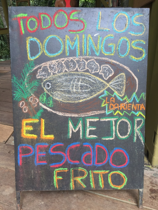 Fried fish sign